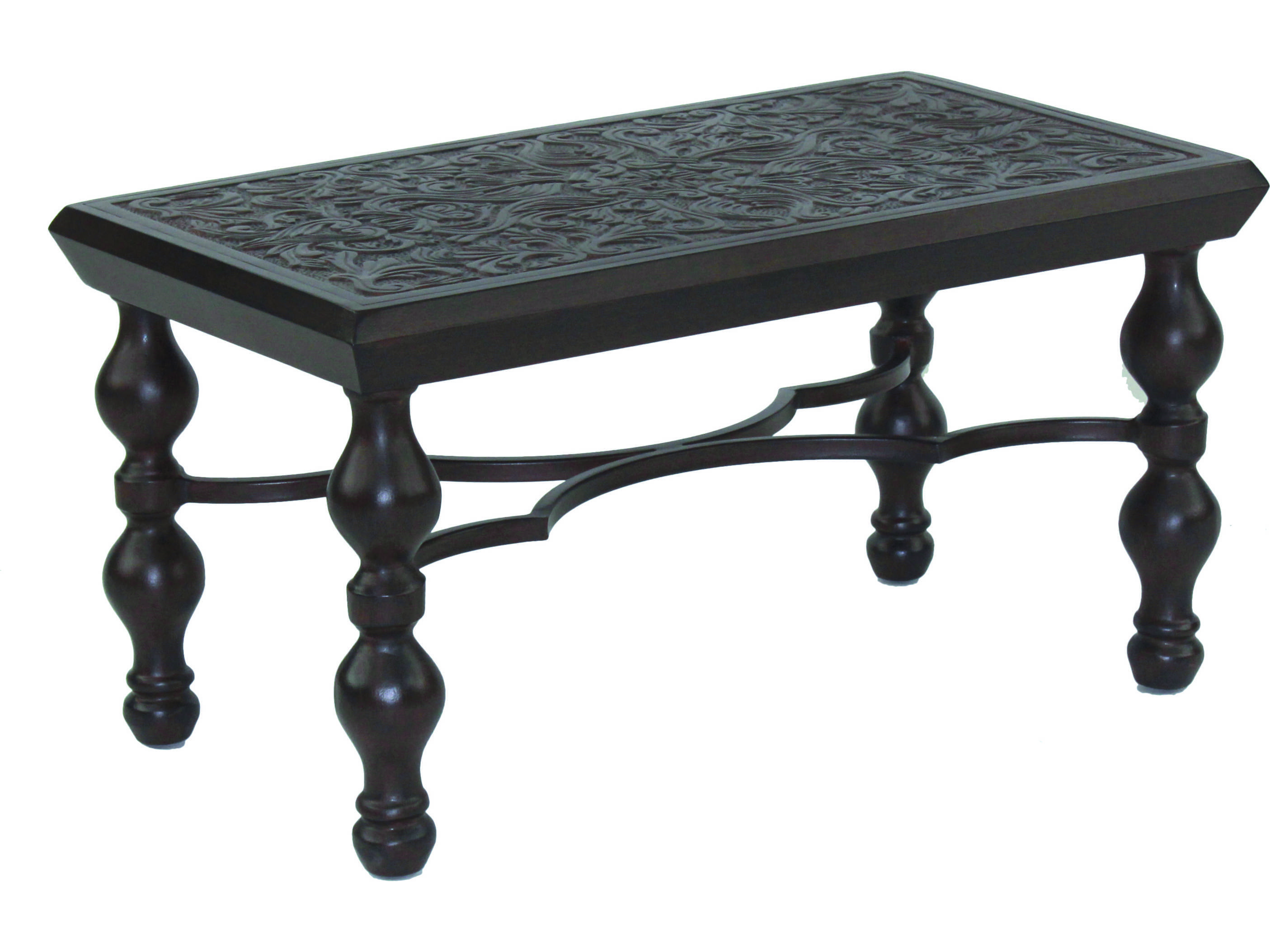 Castelle Tuscan Cast Aluminum 34 36w X 18 20d Small Rectangular Coffee Table Irc3418