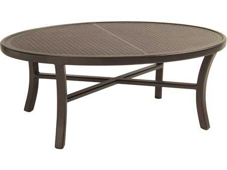 Castelle Heritage Aluminum 48-49.5W x 32-34D Elliptical Coffee Table