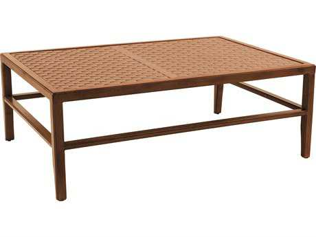 Castelle Heritage Aluminum 48-51.5W x 32-35.5D Large Rectangular Coffee Table PFJRC3248