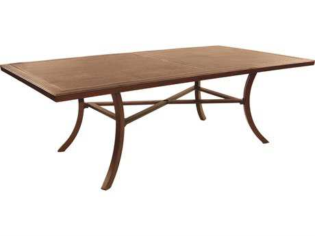 Castelle Heritage Aluminum 86 x 44 Rectangular Dining Table Ready To Assemble