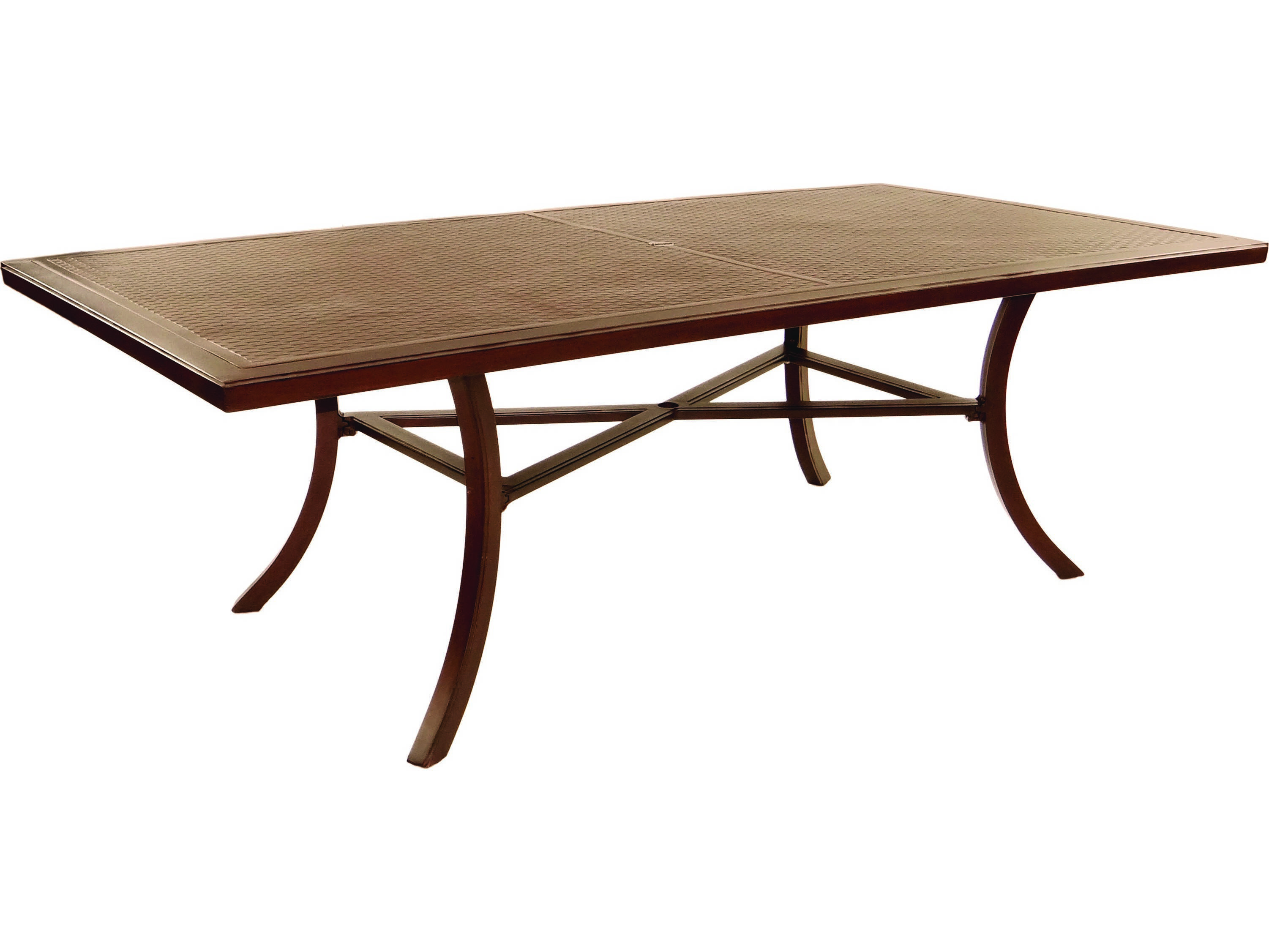 Castelle Transitional Cast Aluminum 86 X 44 Rectangular Dining Table Ready To