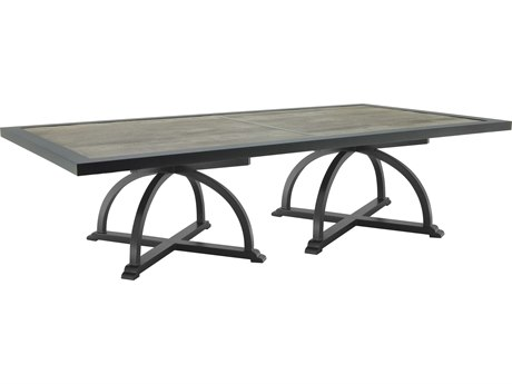Castelle Arches Aluminum 108W x 49-54D Rectangular Dining Table (RTA)