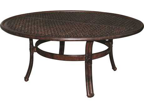 Castelle Meridian Cast Aluminum 42 Round Coffee Table Ready to Assemble