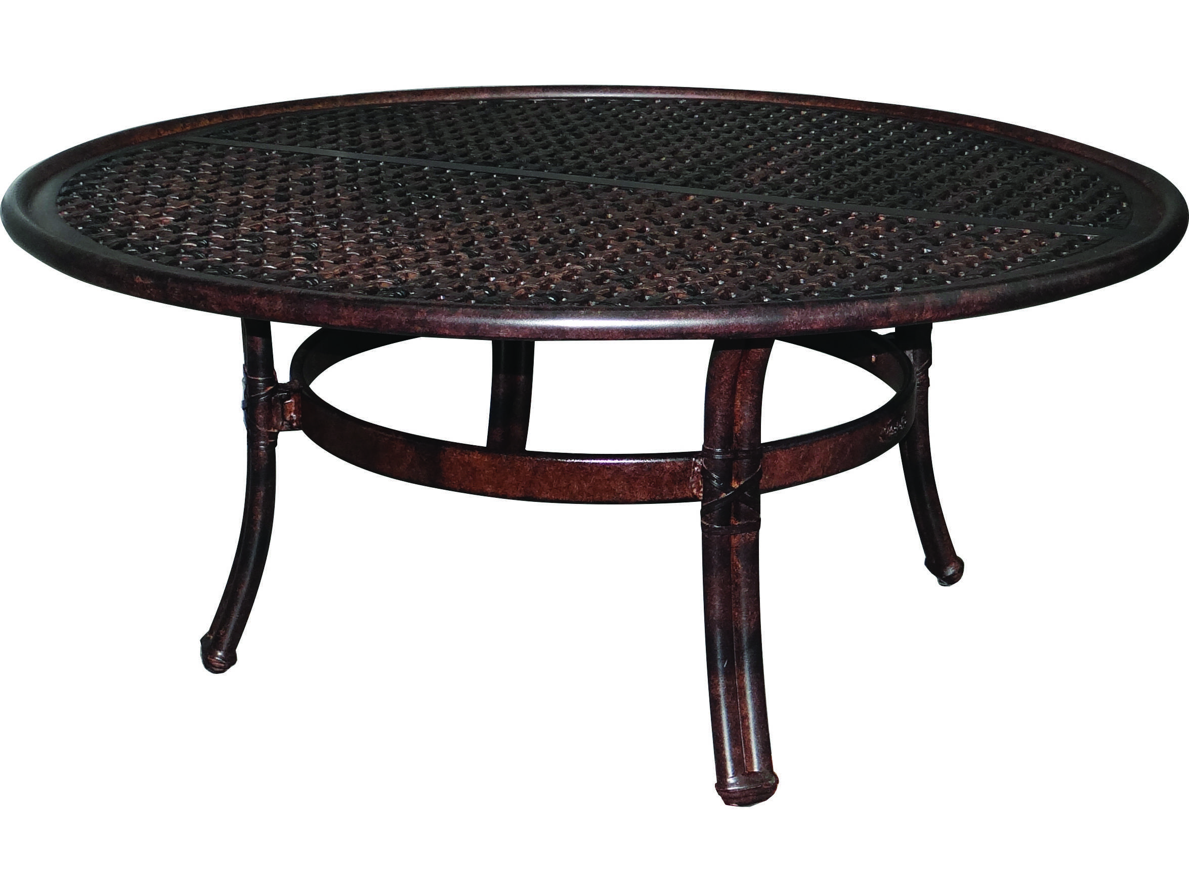 Castelle meridian cast aluminum 42 round coffee table ready to castelle meridian cast aluminum 42 round coffee table ready to assemble geotapseo Image collections