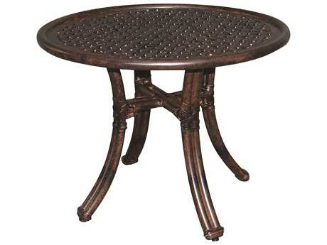 Castelle Meridian Cast Aluminum 24 Round Side Table Ready to Assemble