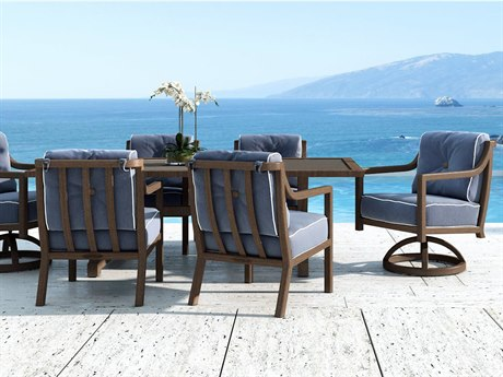 Castelle Legend Cushion Cast Aluminum Dining Set