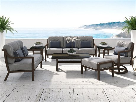 Castelle Legend Deep Seating Cast Aluminum Lounge Set