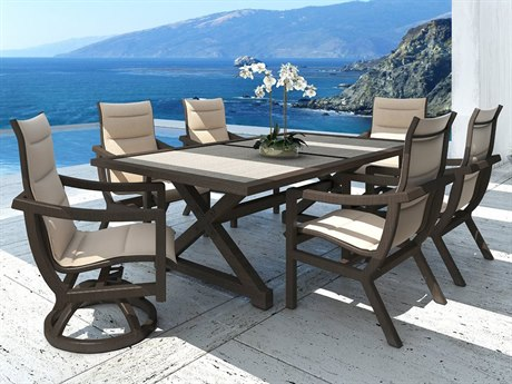 Castelle Legend Sling Cast Aluminum Dining Set