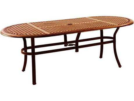 Castelle Meridian Cast Aluminum 84 x 42 Oval Dining Table Ready to Assemble