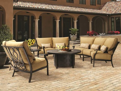 Castelle Madrid Cushion Cast Aluminum Lounge Set