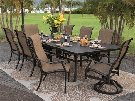 Castelle Madrid Sling Dining Cast Aluminum Dining Set