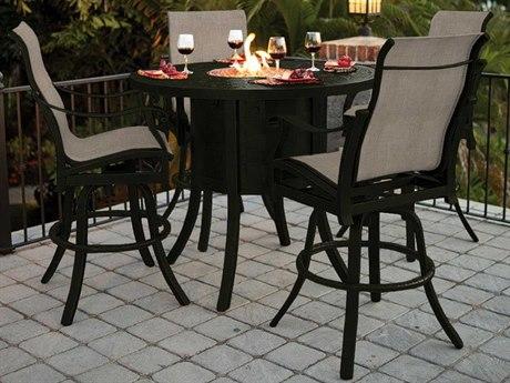 Castelle Madrid Sling Cast Aluminum Dining Set
