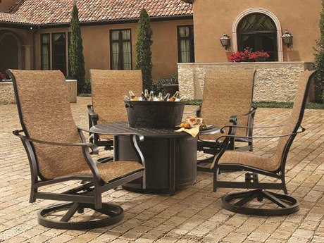 Castelle Madrid Sling Cast Aluminum Lounge Set
