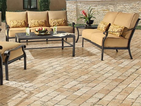 Castelle Madrid Deep Seating Cast Aluminum Lounge Set