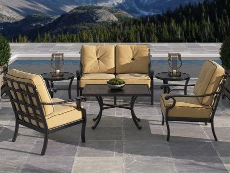Castelle Monterey Deep Seating Cast Aluminum Lounge Set