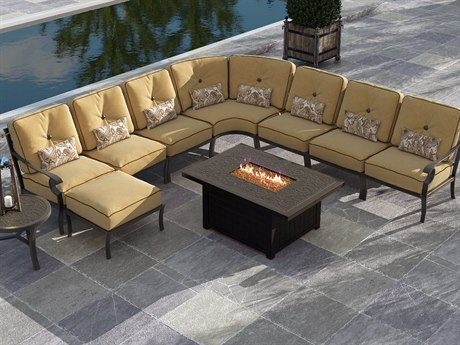 Castelle Monterey Sectional Cast Aluminum Lounge Set