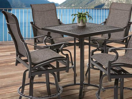 Castelle Monterey Sling Cast Aluminum Counter Set