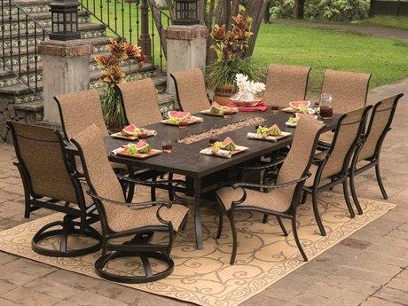 Castelle Monterey Sling Cast Aluminum Dining Set
