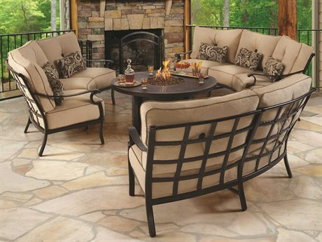 Castelle Monterey Cushion Cast Aluminum Lounge Set