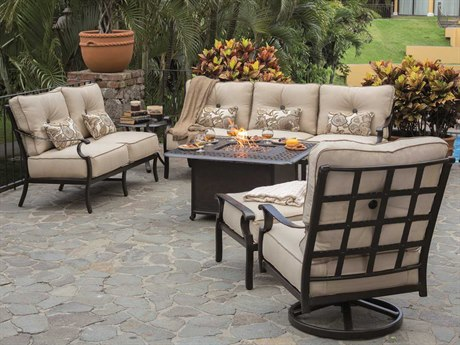 Castelle Monterey Deep Seating Cast Aluminum Cushion Lounge Set