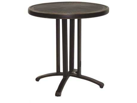 Castelle Vintage Cast Aluminum 28 Round Bistro Table Ready To Assemble