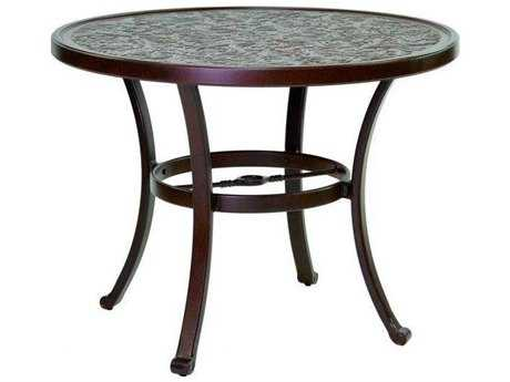 Castelle Vintage Cast Aluminum 32 - 34 Round Bistro Table Ready to Assemble