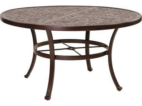 Castelle Vintage Cast Aluminum 54 Round Dining Table Ready to Assemble