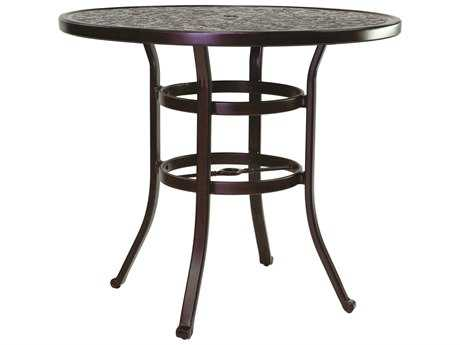 Castelle Vintage Cast Aluminum 42 - 48 Round Counter Height Table Ready to Assemble