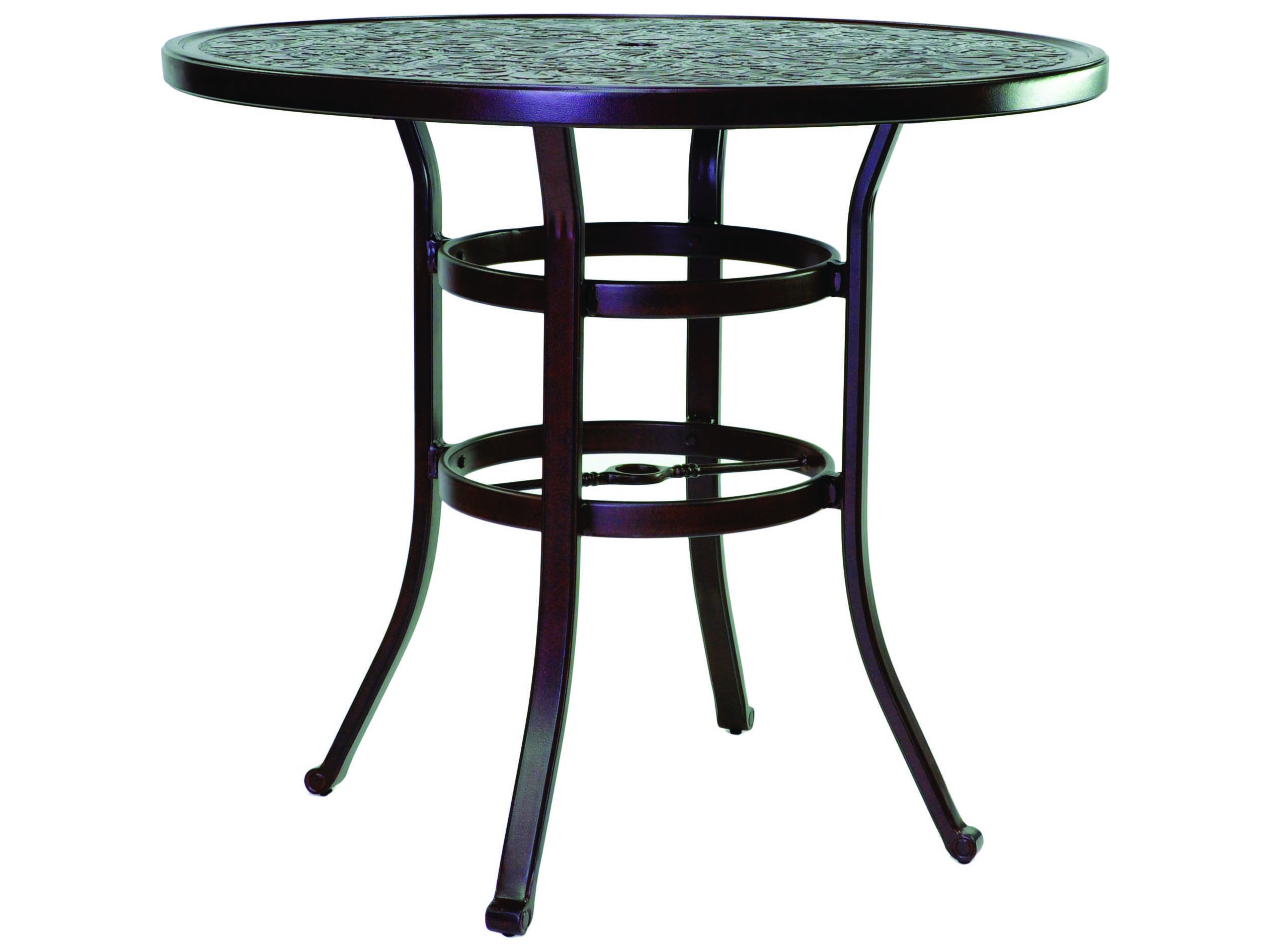 castelle vintage cast aluminum 42 48 round counter height table ready to assemble nce42. Black Bedroom Furniture Sets. Home Design Ideas
