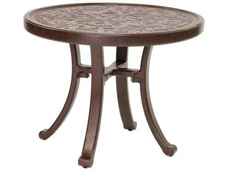 Castelle Vintage Cast Aluminum 24 - 26 Round Occasional Table Ready to Assemble