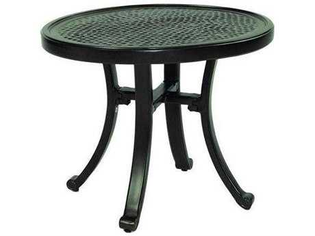 Castelle Vintage Cast Aluminum 24-26W x 21D Oval Elliptical Occasional Table Ready To Assemble