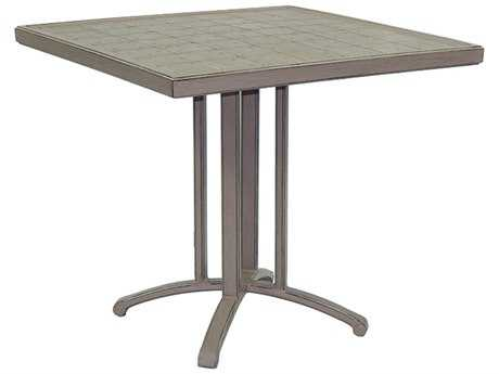Castelle Vintage Cast Aluminum 32 Square Dining Table Ready To Assemble