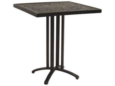 Castelle Vintage Cast Aluminum 32 Square Counter Height Table Ready To Assemble