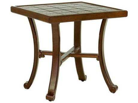 Castelle Vintage Cast Aluminum 20W - 22W Square Side Table Ready To Assemble