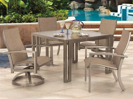 Castelle Orion Sling Cast Aluminum Dining Set