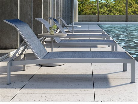 Castelle Orion Sling Cast Aluminum Lounge Set