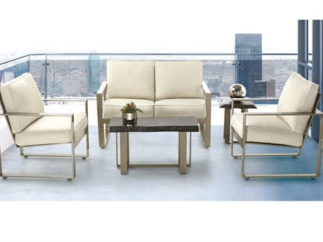 Castelle Park Place Deep Seating Cast Aluminum Lounge Set