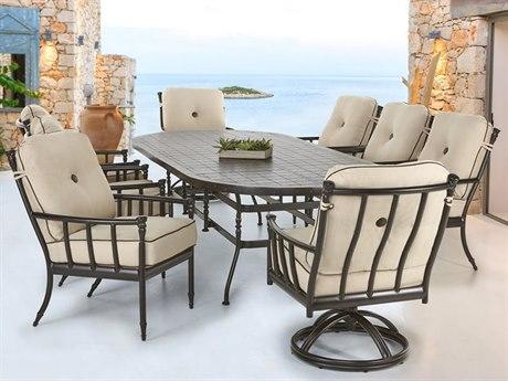Castelle Provence Cushion Cast Aluminum Dining Set