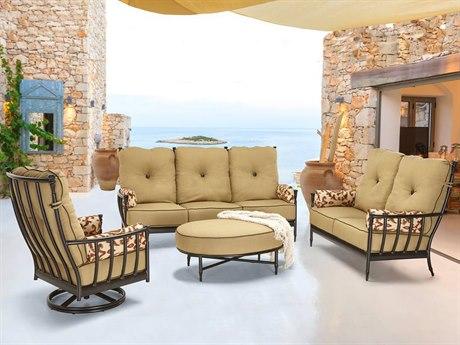 Castelle Provence Deep Seating Cast Aluminum Lounge Set
