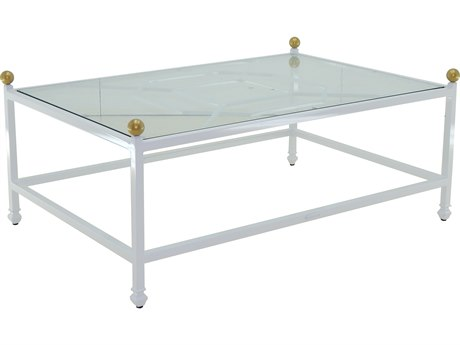 Castelle Barclay Butera Aluminum 48-51W x 32-35D Large Rectangular Coffee Table PFQRC3248