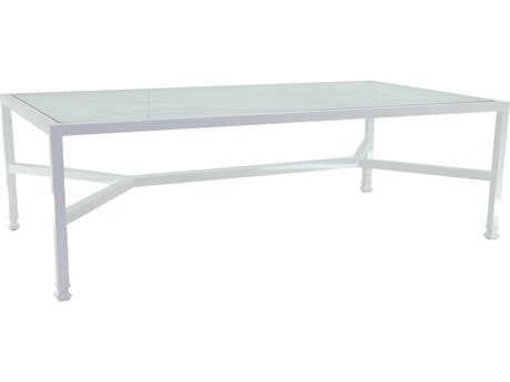 Castelle Barclay Butera Aluminum 84-89.5W x 44-48D Rectangular Dining Table PFQRD84