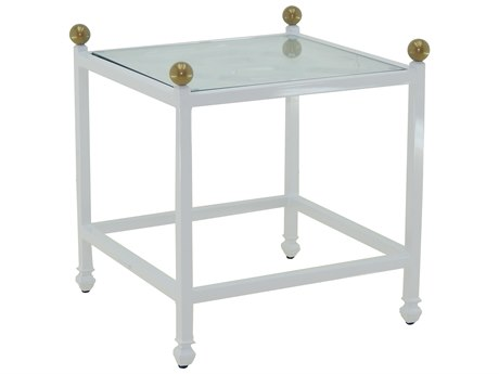 Castelle Barclay Butera Aluminum 20W x 23W Square Side Table