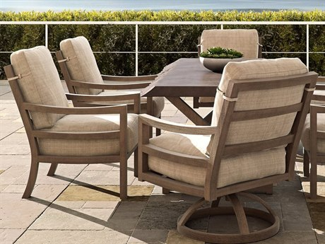 Castelle Roma Cushion Aluminum Dining Set
