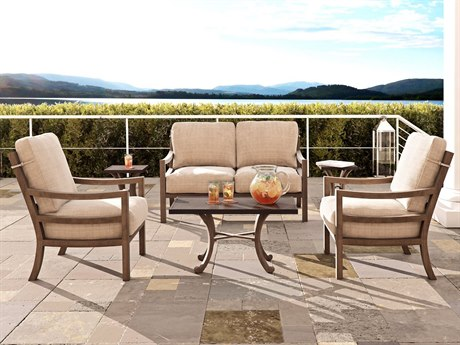 Castelle Roma Deep Seating Aluminum Lounge Set
