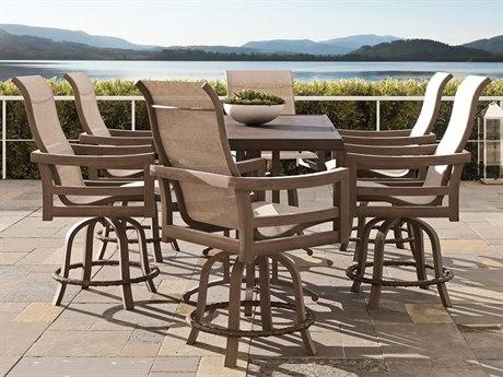 Castelle Roma Sling Dining Aluminum Balcony Set
