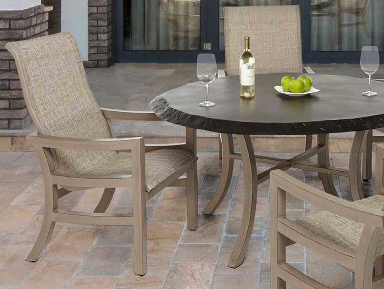 Castelle Classical Cast Aluminum 54 Round Dining Table Scd54