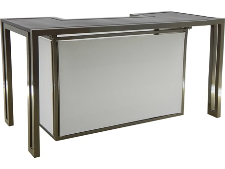 Castelle Icon Cast Aluminum 72 x 34 Rectangular Counter Height Bar PFRRE7S