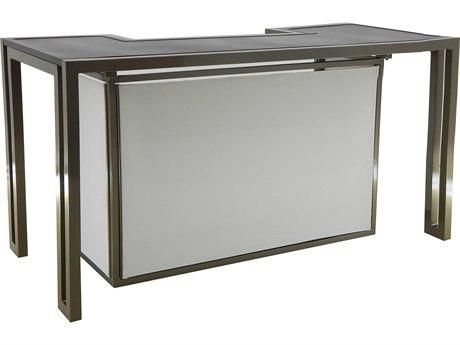 Castelle Icon Cast Aluminum 72 x 34 Rectangular Counter Height Bar
