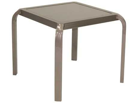 Castelle Icon Cast Aluminum 20W - 23.5W Stackable Square Side Table
