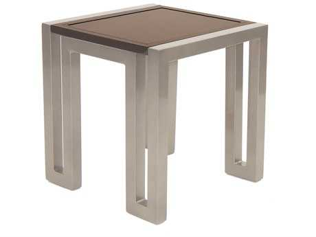 Castelle Icon Cast Aluminum 20W - 21W Square Side Table